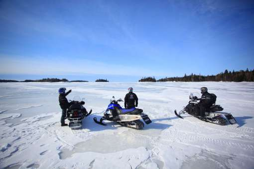 Guided snowmobile ride