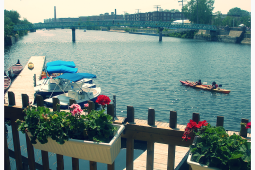 Kayaking on the Lachine canal