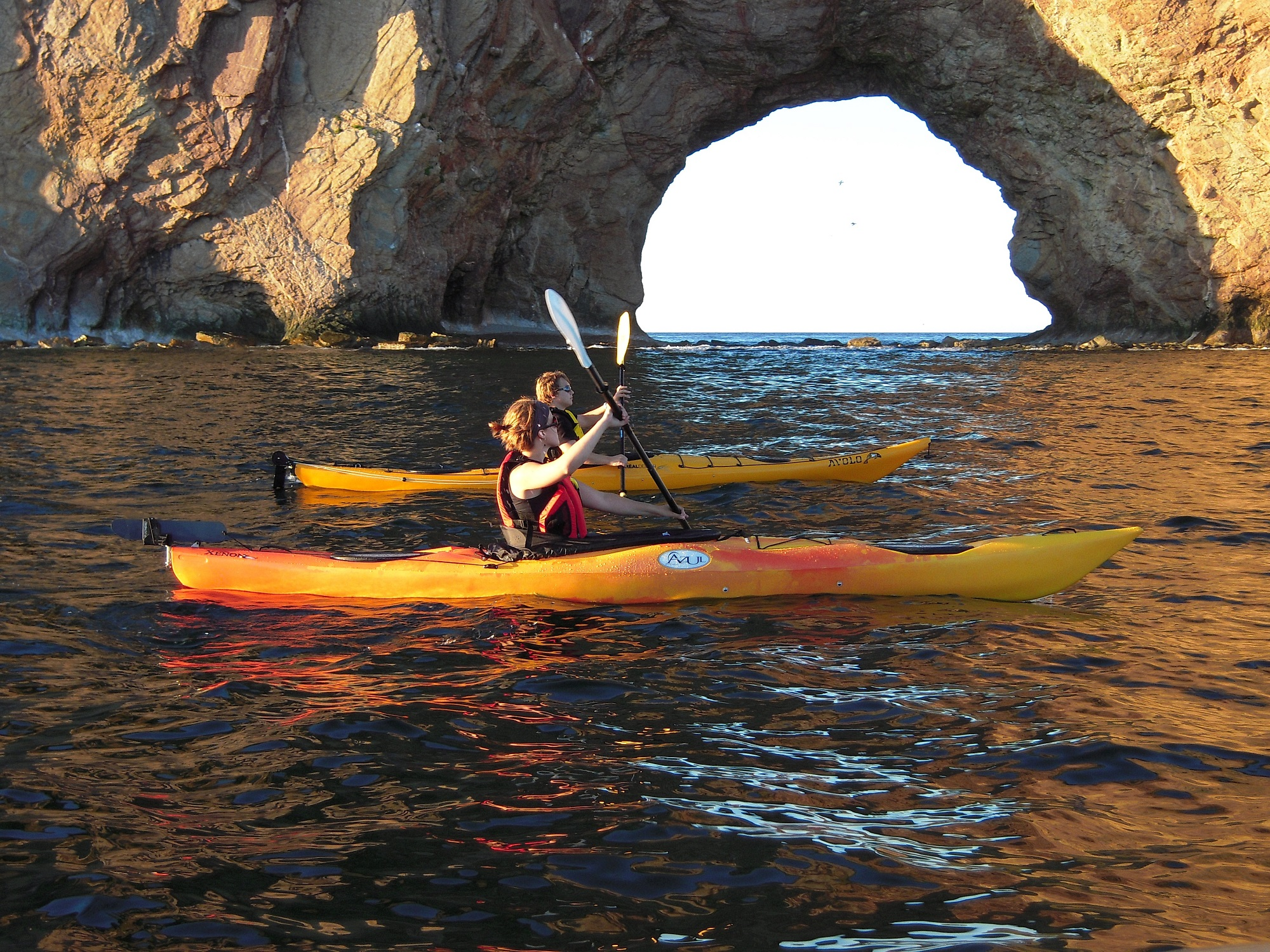 Kayak au rocher Percé
