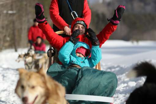 Dogsleddin, Perfect for every one, Centre d'Activités Tremblant