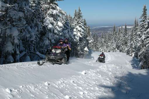 Snowmobiling In the heart of the Appalachians