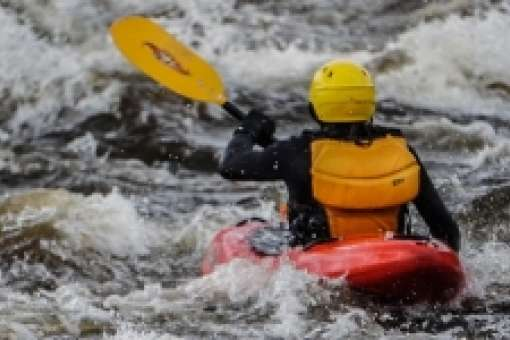 whitewater kayaking lesson