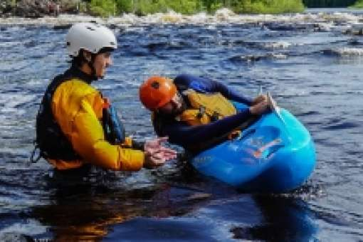 Whitewater kayaking lessons