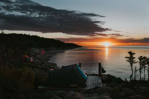 Sunset and camping