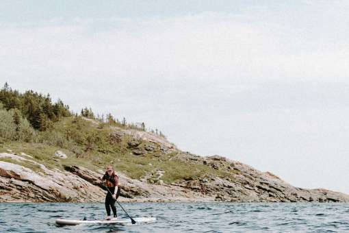Person on a SUP at Tadoussac (c) Magalie Massey