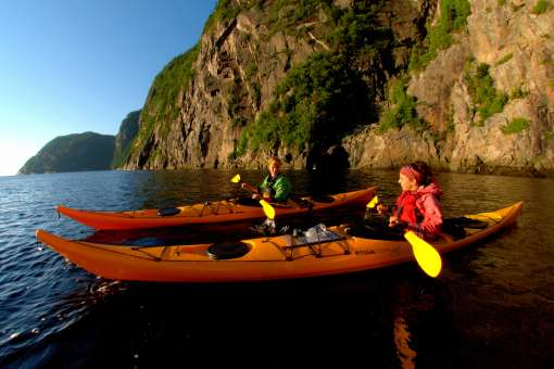 Sea kayaking on the fjord