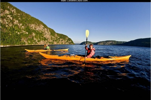 Sea kayaking and hiking in the Saguenay Fjord