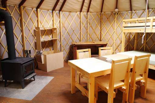Inside of yurt (c) Philippe Jobin